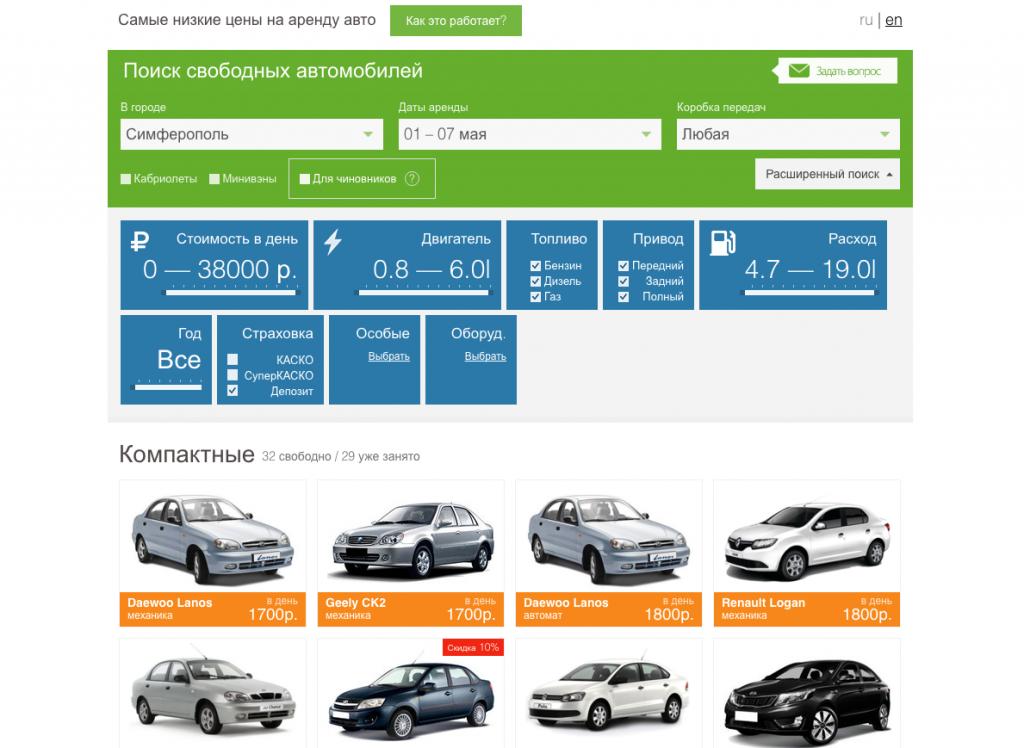 Как арендовать автомобиль в России